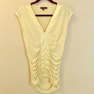 Express Sleeveless Blouse in Pale Yellow